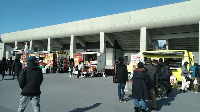 熊谷ラグビー場 移動販売車