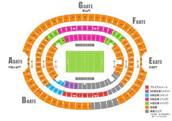 新国立競技場 席種