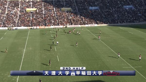 早稲田vs天理 後半