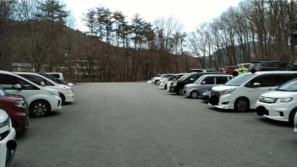 湧水の里水族館 駐車場内