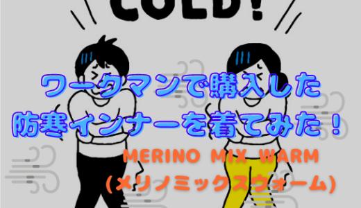 ワークマンで購入した暖かいインナーMERINO MIX WARM(メリノミックスウォーム)長袖丸首シャツを着てみた!
