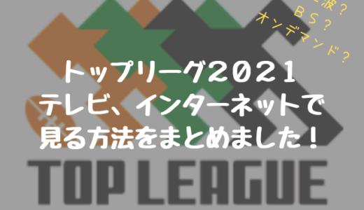 トップリーグ2021をテレビ・インターネットで見る方法についてまとめました!