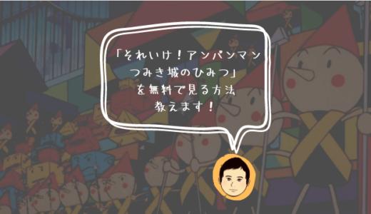 映画「それいけ!アンパンマン つみき城のひみつ」を動画配信サービス(VOD)で見る方法
