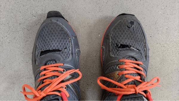 以前使用の安全靴